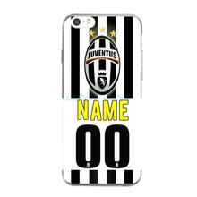 DIY Juventus Football Club Jersey Name and Numbers Tpu Case For iphone 7 7 plus 6s 5 5S SE 4S slim silicone TPU phone Case