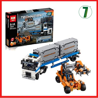 New Container Terminals Toy building blocks lepin 20035 631pcs Technic Container trucks and loaders boy gift compatible 42062 <br><br>Aliexpress