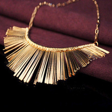 H:HYDE Gold Silver Gray 3 Colors Tassel Necklace Collier Femme High Quality Vintage Jewelry Statement Chokers Necklace & Pendant
