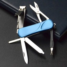 Multifunctional Outdoor EDC Tool Set Nail Clipper Finger File Belt Key Ring Scissors Plier - shopping_spree88 Store store