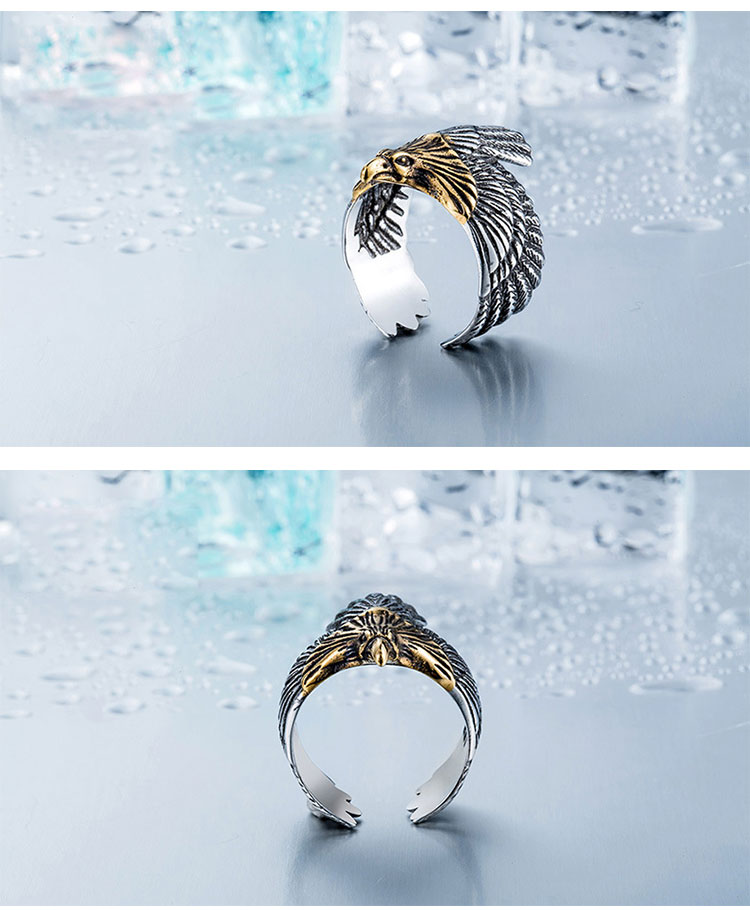 แหวนสวยๆ Code 044 แหวน Flying Eagle สแตนเลส เท่ห์จัด8