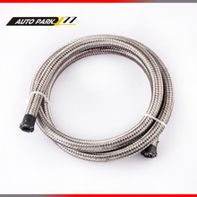 AN4 auto stainless steel double braided hose fuel fitting hose gas water hose fuel line