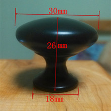 Diameter 30mm black soild Knobs Cabinet Hardware Pull Handle -N
