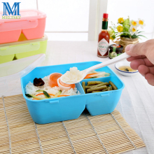 3 Colors Plastic Kids Bento Lunch Box Compartment Food Container School Lunchbox Microwavable
