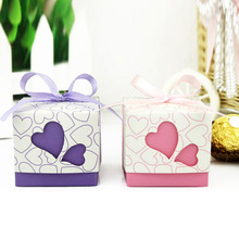 Free shipping Stable quality 100pcs/lot wedding favors and gifts/ paper box/ favour gift/ candy boxes without ribbon Novel item