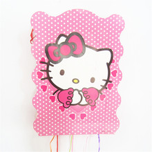 1PCS 40*29cm Hello kitty pinata children's day party game baby shower cartoon design girl favor happy birthday supplies decor(China)