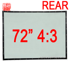 New 72 Inches 4:3 Wall Mounted PVC Curtain Rear Projection Film Projector Screen For Mini LED Projector Supplies