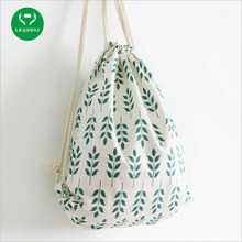 LKQBBSZ Canvas Handbag Baclpacks Drawstring Shoes Storage Bags Schoolbags Travel Grain Pattern Shoulder Bags for Girls Women(China)