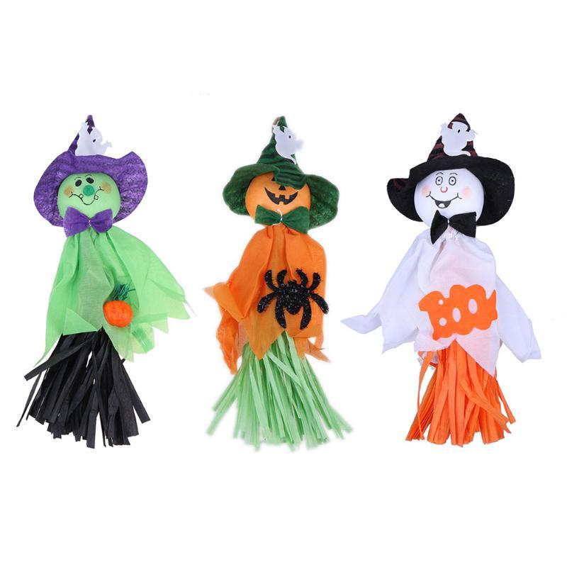 hot store hotel bar kindergarten haunted house place halloween decorations ghost garland halloween props white green orange