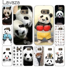 Lavaza Cute Giant panda China White Case for Samsung Galaxy A3 A5 A7 A8 J3 J5 J7 2015 2016 2017 & Grand Prime 2 Note 4 3 Cover(China)