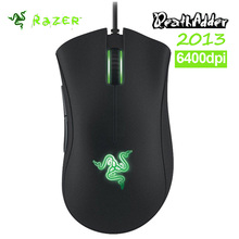 Original Razer Deathadder 2013 6400DPI 4G game mouse Brand New Without Retail Box Suppot Razer Synapse 2.0+Gift mouse bag(China)