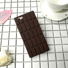 Crazy Cow Fashion Chocolate 3D Mobile Phone Bag Cover Case For iPhone 5 5s Se 6 6s 6 Case Cover Soft Silicone Rubber Funda Coque