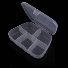 PP Portable Transparent Trapezoid Shape 5 Cells Empty Pill Box Case for Pills Medicine Drug Jewelry Gems GUB#