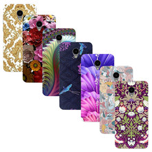 "For Meizu M2 Mini 5.0"" Blue Charm 2 Printed Case Luxury Hard Plastic Drawing Phone Shell For Meizu M2 Mini Flower Back Cover"