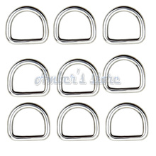 10PCS 3 MM Diameter Forged AISI 316 Stainless Steel Welded D Ring Boat Hardware Rigging Hardware
