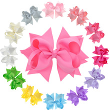 "12 PCS 5"" 12.5cm Flower Large Hair Bows For Teens Juniors Hair Barrette Clips Girls Hair Pins Big Bow Hair Accessories(China)"