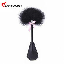 Buy Morease Clit Stimulation Leather Spanking Paddles Fetish Role Play Slave Whip Handle Flogger Bdsm Sex Toy Couple Women