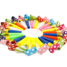 10Pcs/lot Small Multi Color Blowouts Whistles Noicemaker Toys Goody Bags Kids Birthday Party Favors Decoration Supplies