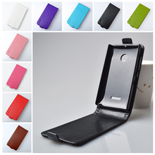 For Microsoft Nokia Lumia 435 Flip PU Leather Case Full Protect Cover Phone Skin Vertical With Safe Buckle