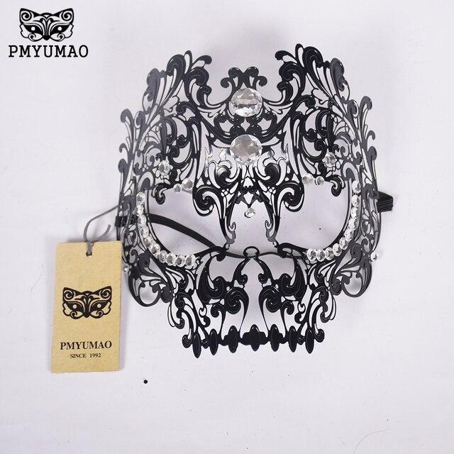 PMYUMAO Venedig vollen gesicht eisen maske Intarsien kristall ...