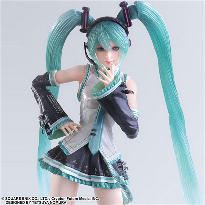 28cm big size Hatsune Miku  joint Movable Anime Collectible Action Figure PVC toys for christmas gift with retail box<br>