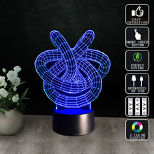 Acrylic Pane Abstract Pattern 3D Visual LED Desk Lamps Innovative Kids Gift Colorful Nightlight Baby Sleep Bedside Table Lamp(China)