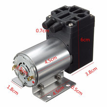 Brand New DC12V 6W 65-120kpa Micro Vacuum Pump Negative Pressure Suction Pump Motor Drive 500mA Newest(China)