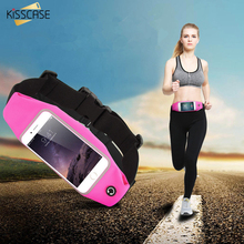KISSCASE Waist Bag Sport Waterproof Gym Pouch For iPhone 7 6 8 Plus 5S 5 Outdoor Phone Case For Galaxy S7 S6 Edge Plus Note 5(China)