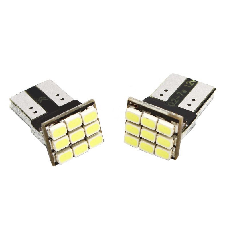 2pcs DC 12v Car T10 led W5W 9SMD Chips LED 3W Error door and marker Light Bulbs White car-styling #HP<br><br>Aliexpress