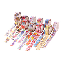 24 Style Japanese Washi Tape DIY Masking Paper Tape Decorative Sticker Tape Multi-Color Tape 15mm*10m Free Shipping
