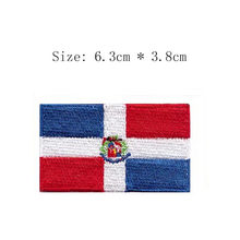 """Dominican Republic 2.5"""" wide embroidery flag patch Wholesale free shipping iron sew on bags left chest SANTO DOMINGO for Jacket(China)"""