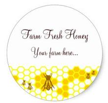 1.5inch Honey Bee Honeycomb Art Custom Jar Stickers
