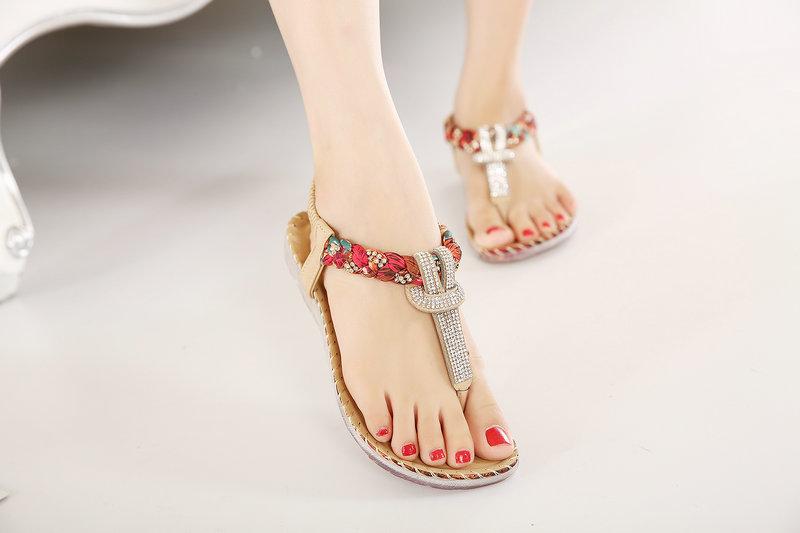 5030fba09 UMMEWALO Summer Sandals Women T Strap Flip Flops Thong Sandals ...
