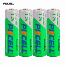 Pkcell 4pcs/1 Card Professional 1000MAH 1.2V Ni-MH AAA Rechargeable Battery Pre-Charged For Flashlight Camera(China)