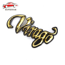 2pcs Motorcycle Gold 3D Plastic Fuel Gas Tank Badge Emblem Decal Sticker For Yamaha Virago(China)