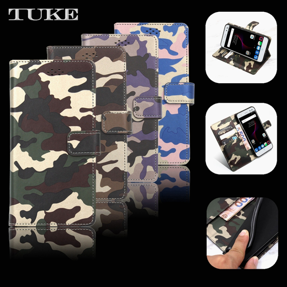 TUKE Camouflage Doogee Shoot 2 Leather Cover Case Stand Flip Silicone Protective Case Cover Doogee Shoot2 5.0 Inch Phone Bag