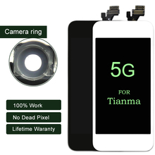 1PC/LOT For Tianma Competitive Quality Display For iPhone 5 5G LCD With Touch Screen Assembly 100% No Dead Pixel(China)
