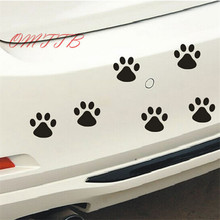 10Pcs Cute Paws Car Sticker Dog Footprint Decals Puppy Claws Bumper Windshield Mirror Motorcycle Refrigerator Wall car sticker(China)