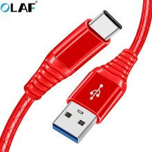 OLAF USB Type-C Cable USB Charger Cables Data Sync Type C Cable Samsung S9 S8 Note 9 8 Phone Fast Charging 1m USB C Cable
