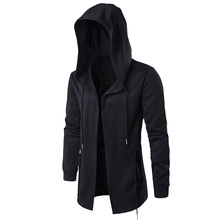 Black Cardigan Assassin Creed Hoodie Mens Hoodies Jackets Black Cosplay Sweatshirt Thin section hooded cloak cape windbreak coat(China)