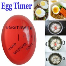 KANNERT 1pcs Egg Perfect Color Changing Timer Yummy Soft Hard Boiled Eggs Cooking Kitchen Eco-Friendly Resin Eggs Timer Red(China)