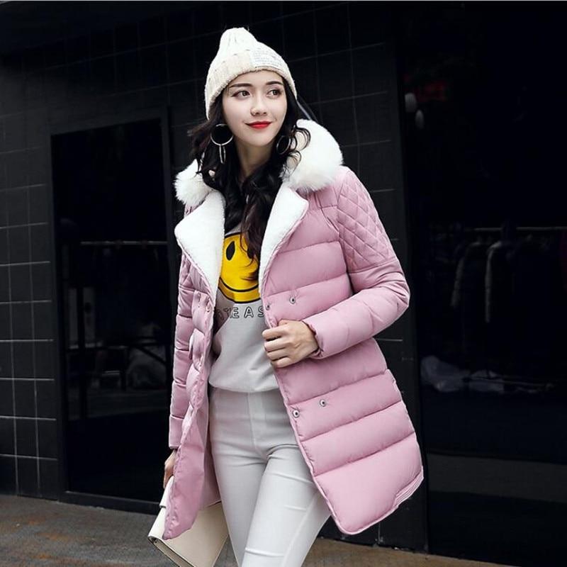 New 2017 Winter Jacket Women Warm Down Jacket Women Long Fashion Coat Thick Female Slim Parka Large Size Womens CottonÎäåæäà è àêñåññóàðû<br><br>
