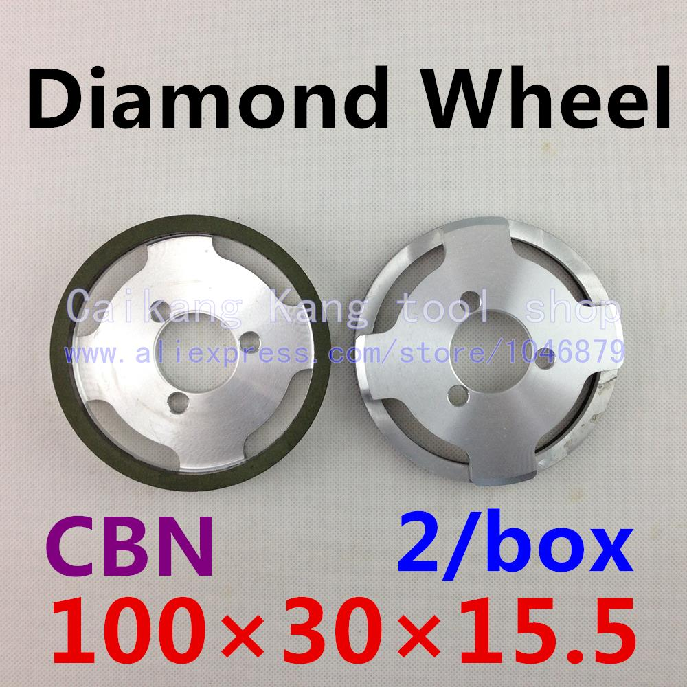 Free shipping 2 / pack Diamond Wheel 610 large roundabout round knife Web round cutter wheel CBN 100*30*15.5mm<br>