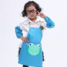 Cute Kids Children Waterproof Aprons Anti-stain Apron Cartoon Frog Printed Painting Retail/Wholesale JW10