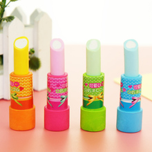 South Korea creative stationery wholesale stationery eraser cute cartoon lipstick package mail prize for students(China)