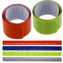 New Hot 1PC Running Fishing Cycling Reflective Strips Warning Bike Safety Bicycle Bind Pants Leg Strap Reflective Tape