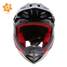 Black Motorcycle Motorbike Dirt Bike Riding Full Face Helmet CE Approved(China)