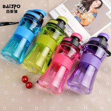 BAISPO 550 ml Sports Water Bottle Portable Leak Test For SportsTravel Space Bicycle Hiking Plastic Water Bottle BPA FREE
