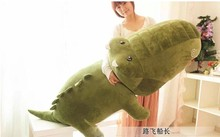 big plush army green crocodile toy stuffed cartoon Chinese alligator pillow birthday gift about 120cm