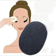 3 pcs /lot Soft Natural Black Bamboo Sponge Beauty Facial Wash Cleaning Cosmetic Puff Charcoal black Hot Sale